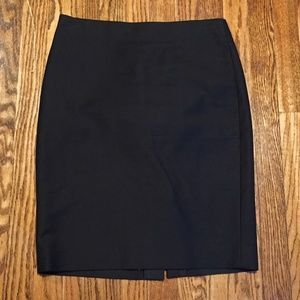 J Crew Black No. 2 Pencil Skirt Cotton Twill 4